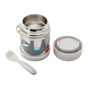 sloth stainless steel food jar