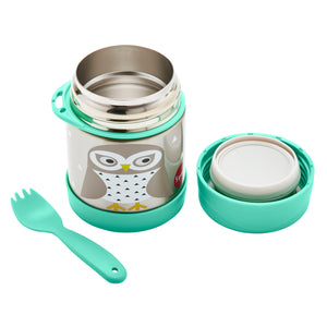 owl stainless steel food jar
