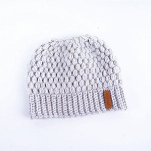 The Ponytail Beanie™ - Crocheted By Hand