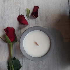 Rose scented hackney edit candle soy wax, vegan, non toxic