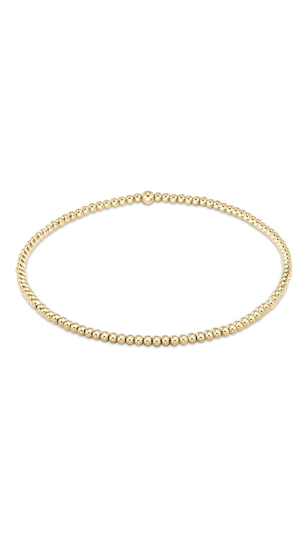 CLASSIC GOLD 2MM BEAD BRACELET