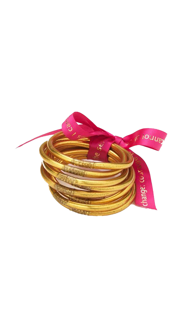 Budha Girl Bangles - Gold, Silver, Rose