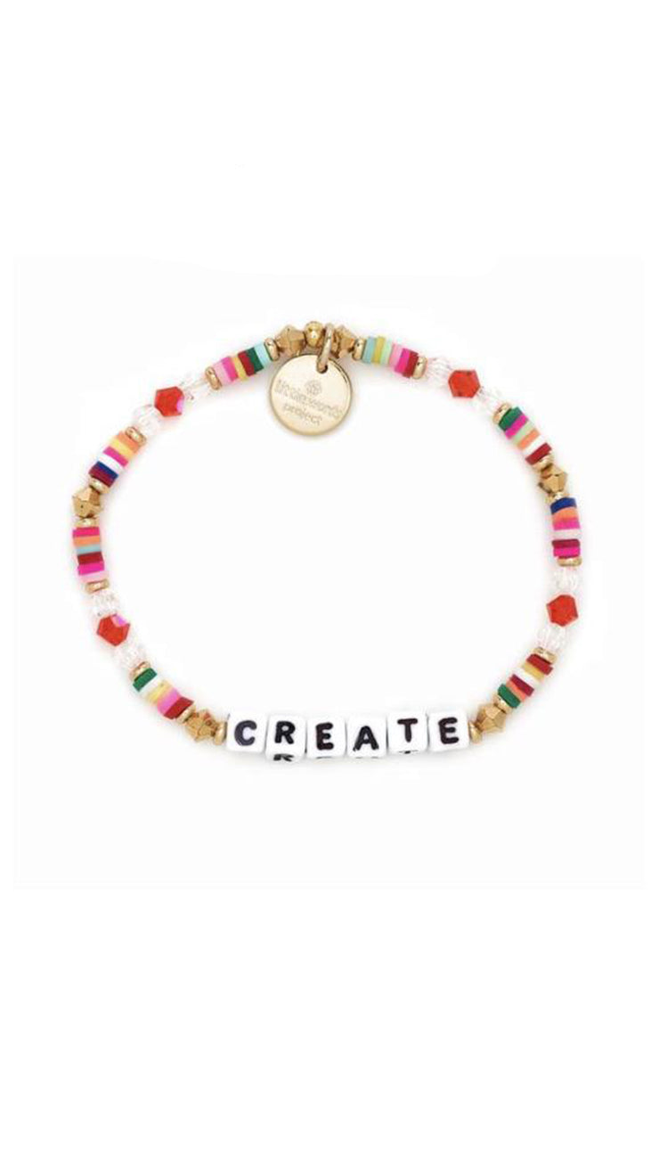 Little Word Project Bracelets/ Crystal Gold