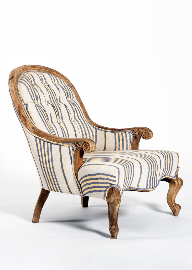 Sterion  Wooden Upholstered Arm Chair