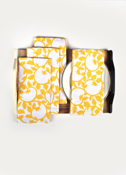 Yellow Liana Napkin ( Set of 4 Pcs)