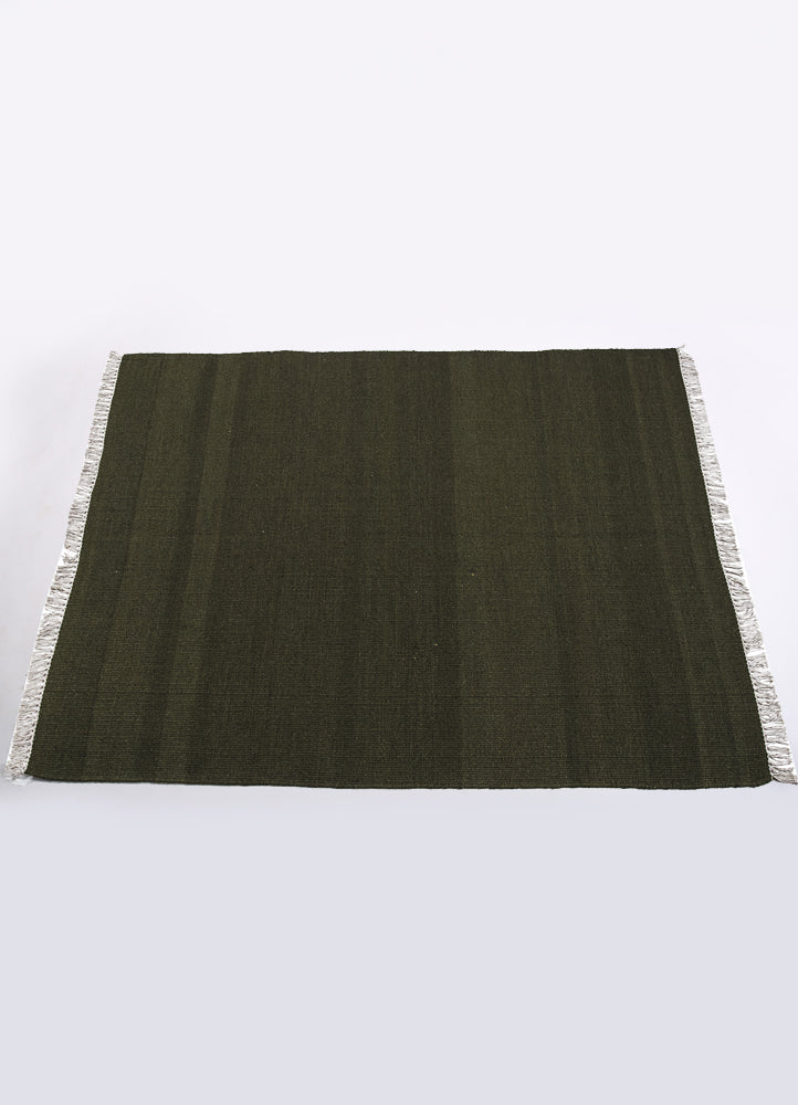 Seal Grey Wool Solid Rug