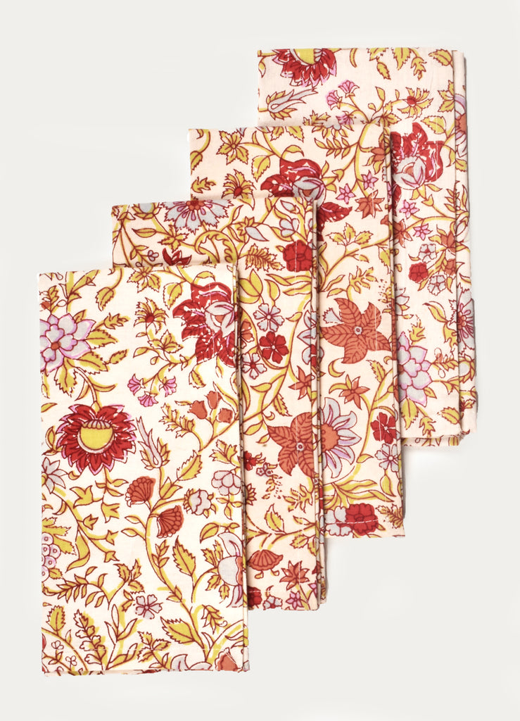Floral Treat Napkin ( Set of 4 Pcs )