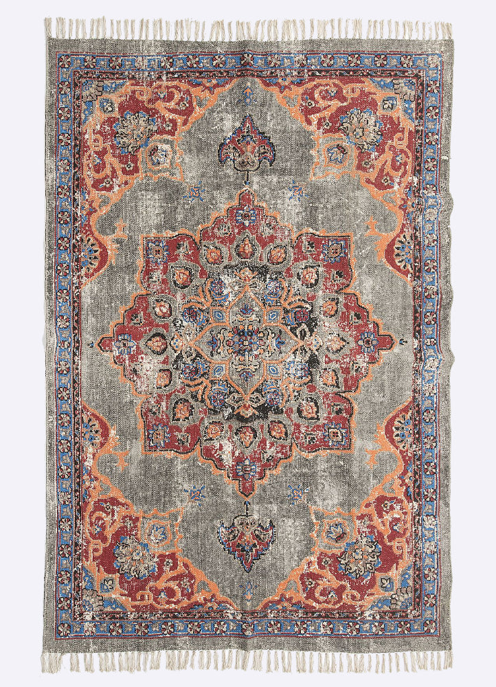 Nirva Cotton Printed Rug