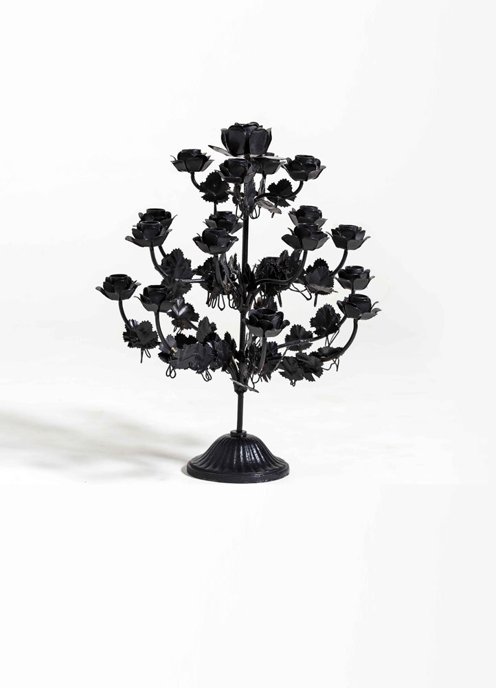 Traditional Metal Flower Candle Stand