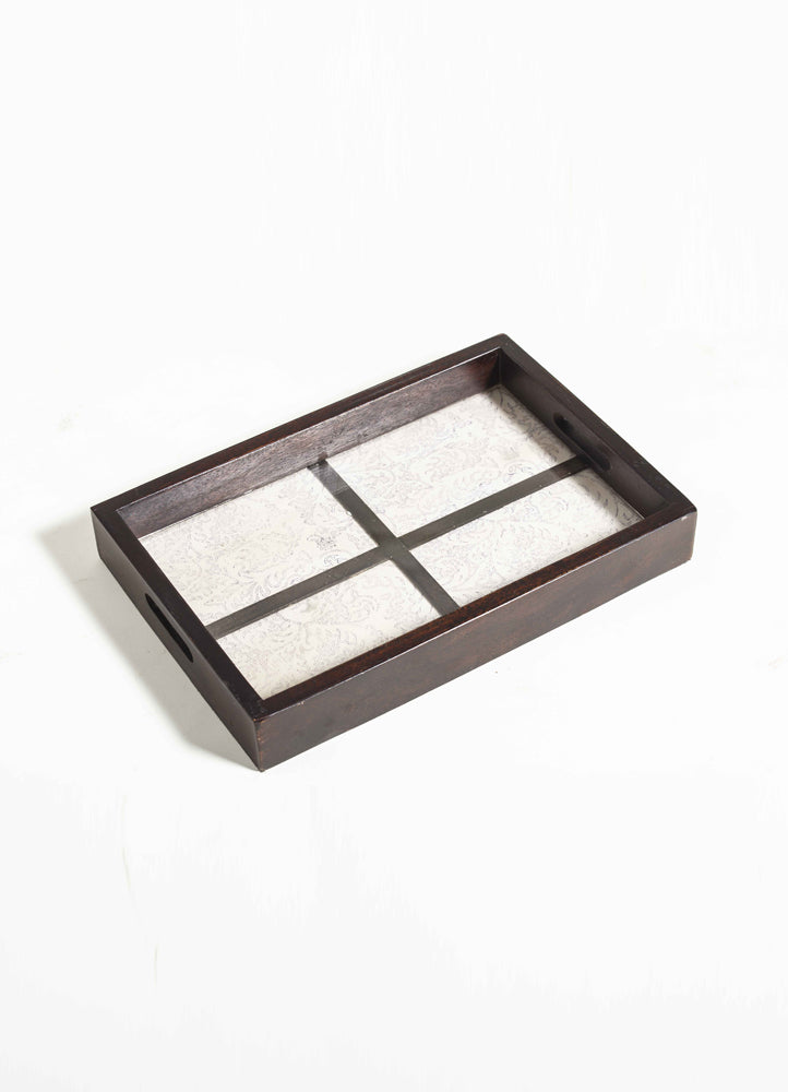 Mikalya Painted Fabric Wooden  Tray