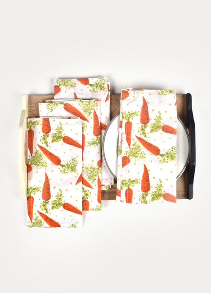 Daikon Print Napkin ( Set of 4 Pcs)
