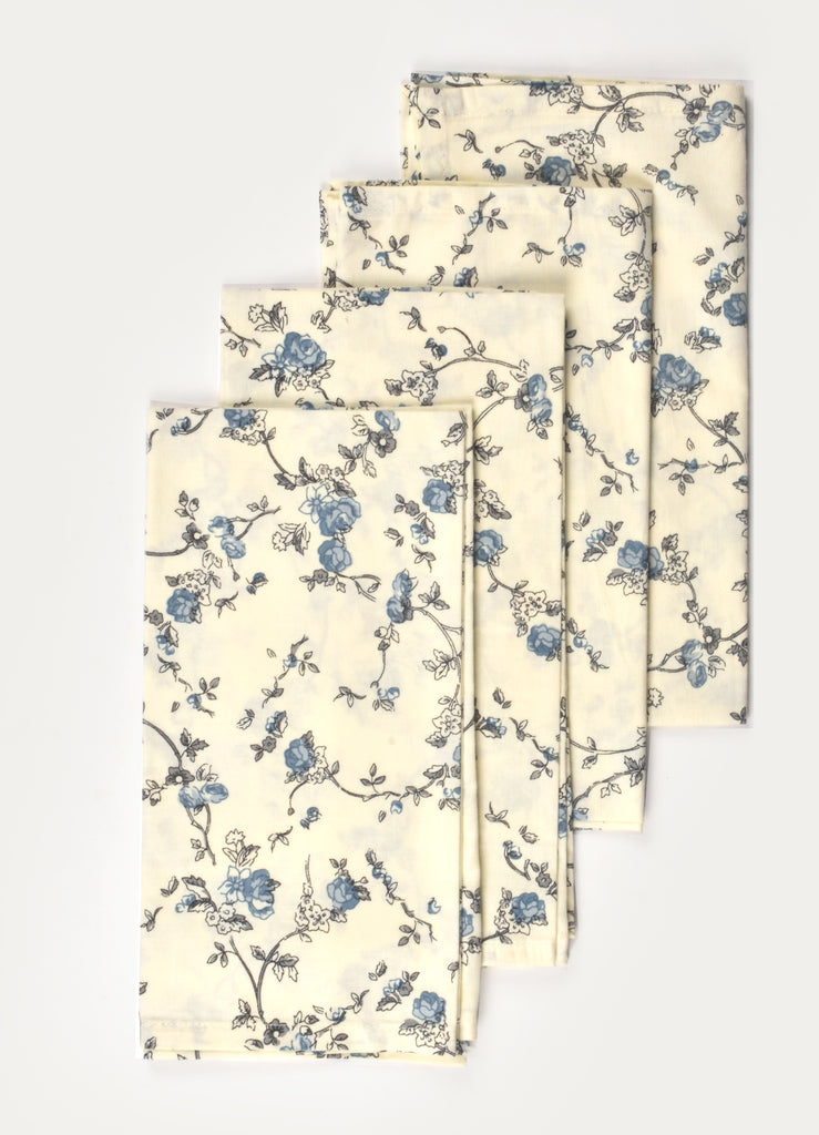 Eva Floral Print Napkin ( Set of 4 Pcs)