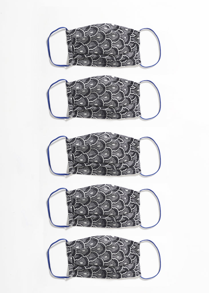 Belen Cotton Printed Mask Set of 5 Pcs