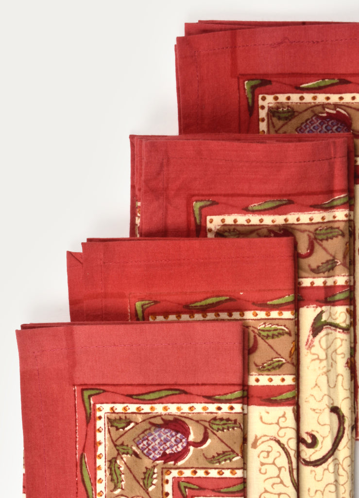 Ratna Print Napkin ( Set of 4 Pcs)