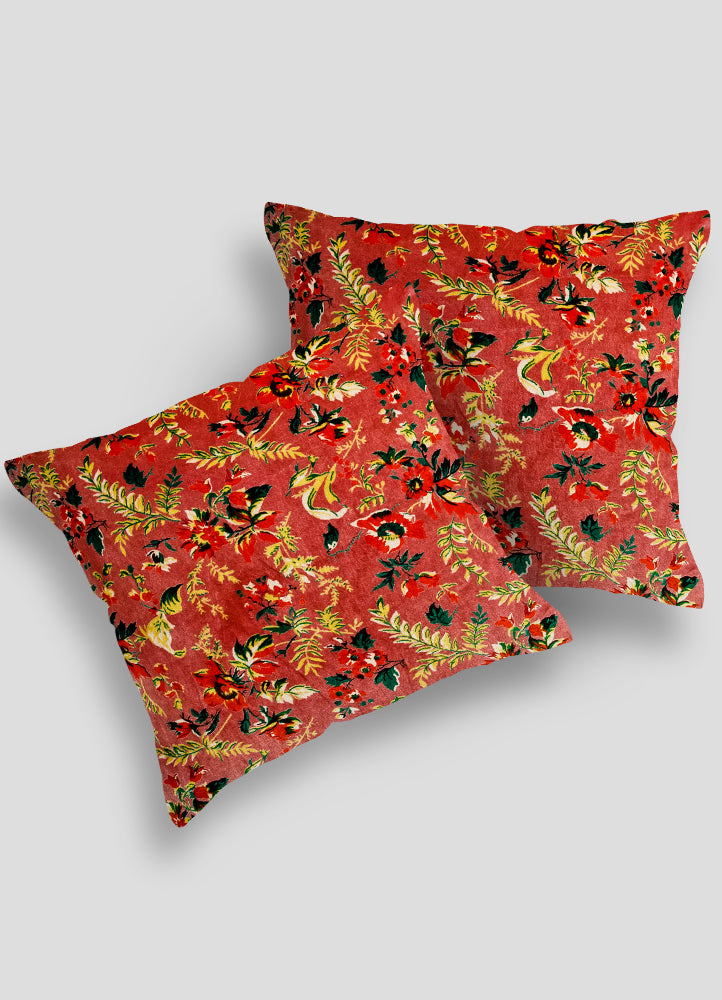 Spring Velvet Cushion Cover set of 2 Pcs