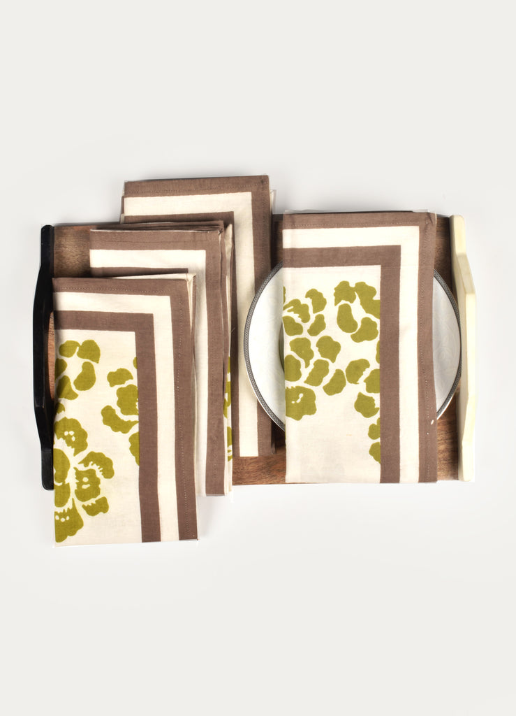 Sati Floral Print Napkin ( Set of 4 Pcs)