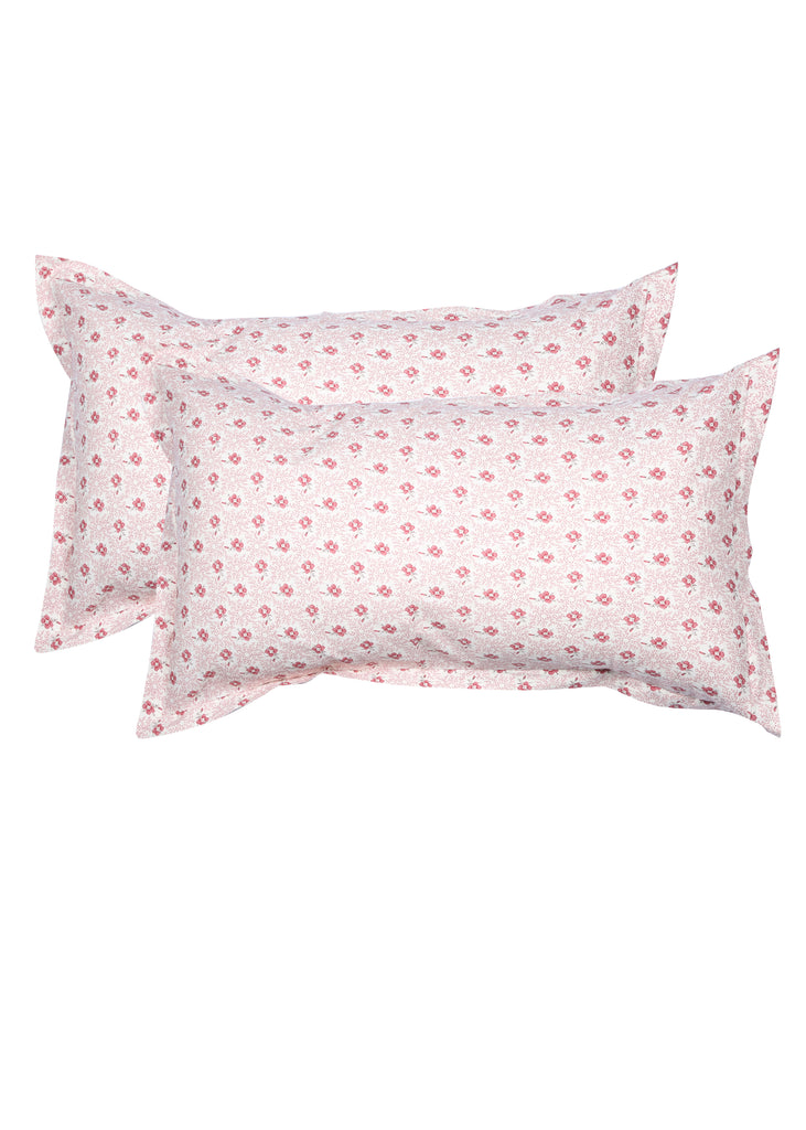 Rosine Ivory Red Pillow Cover Set of 2 Pcs