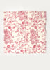 Ivory Red Print Napkin ( Set of 4 Pcs)