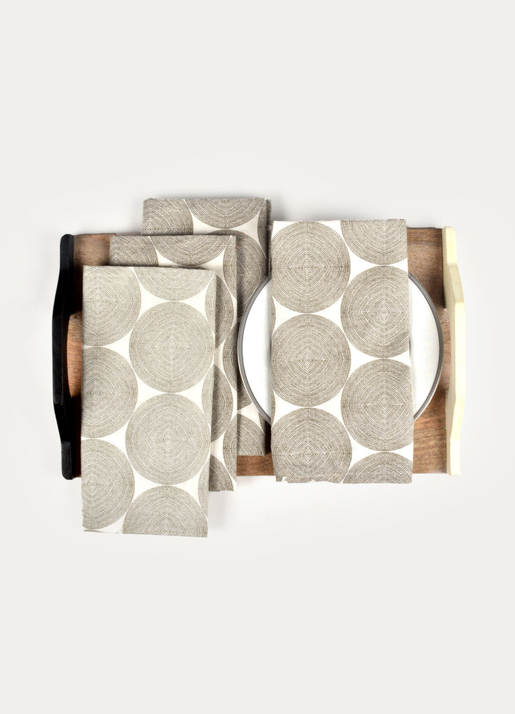 Grocian Circle Napkin ( Set of 4 Pcs)