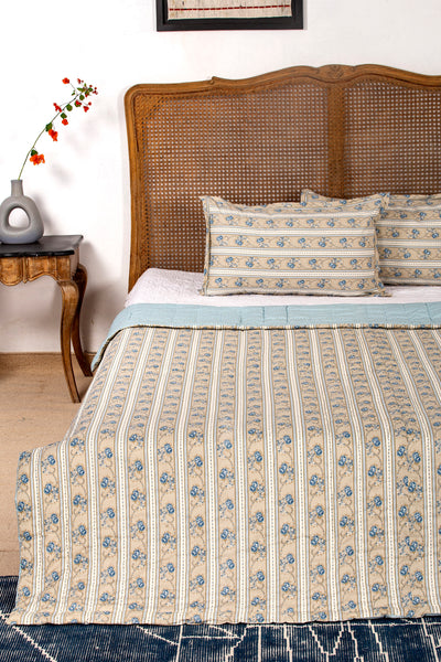 Goren  Reversible Quilt with 2 Pillow Cover