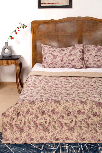 Nanine  Reversible Quilt with 2 Pillow Cover