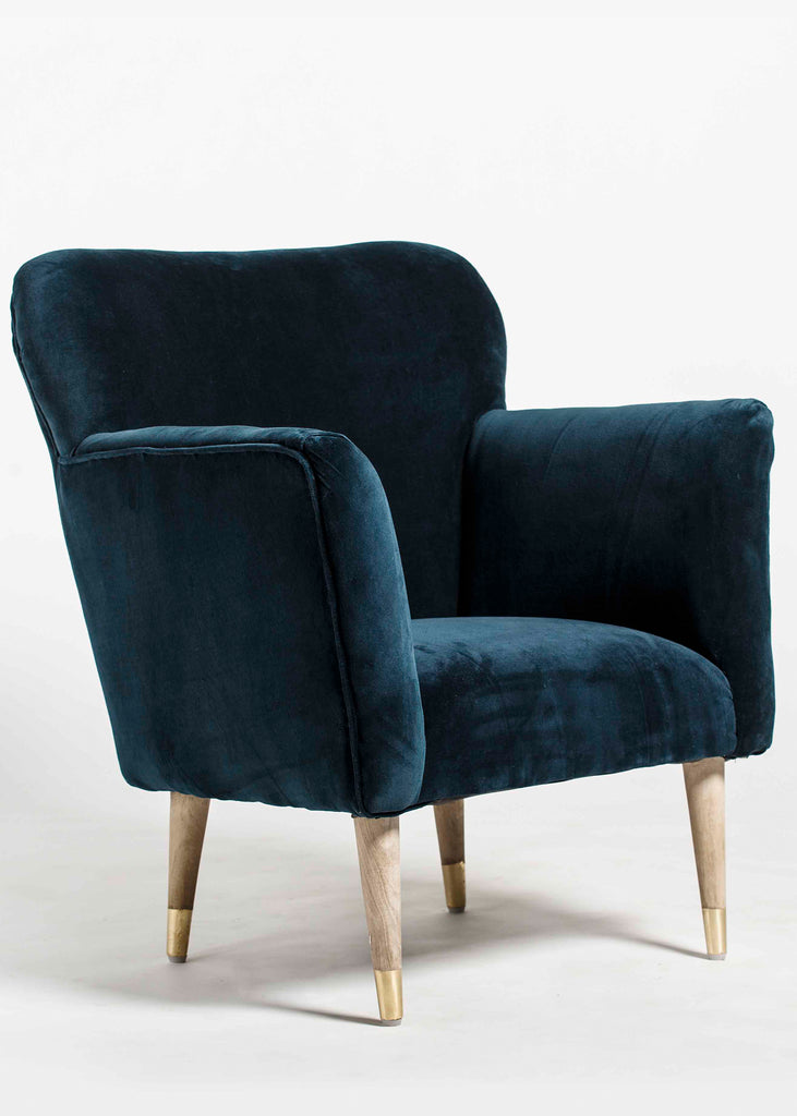 Zenith  Wooden Upholstered Arm Chair