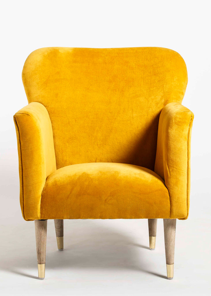Ambile  Wooden Upholstered Arm Chair