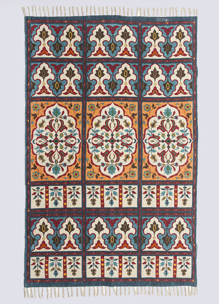 Amber Cotton Printed Rug