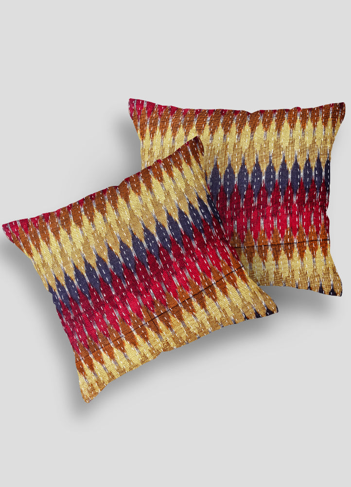 Frinzie Kantha Cushion Cover set of 2 Pcs