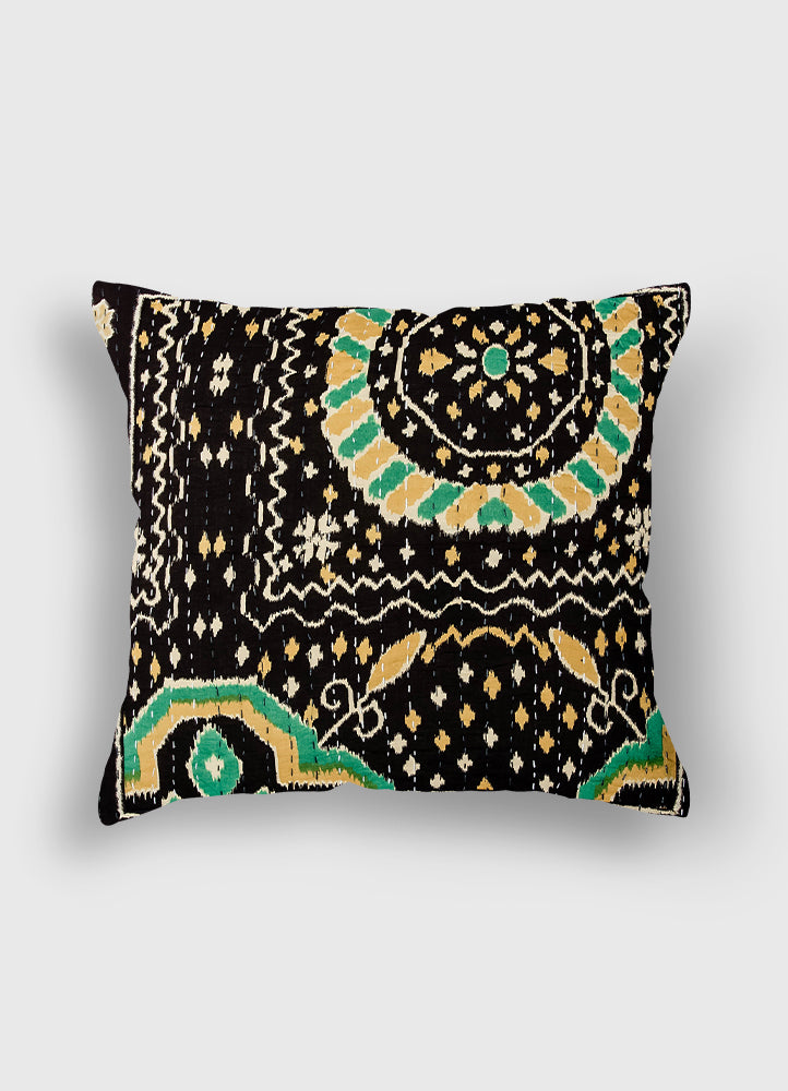 Suzani Print Kantha Cushion Cover set of 2 Pcs