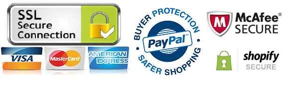 buyer protection ssl secure mcafee secure paypal visa mastercard american express