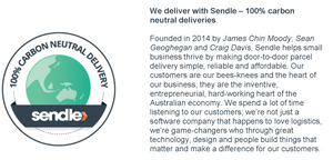 Sendle - 100% Carbon Neutral delivery