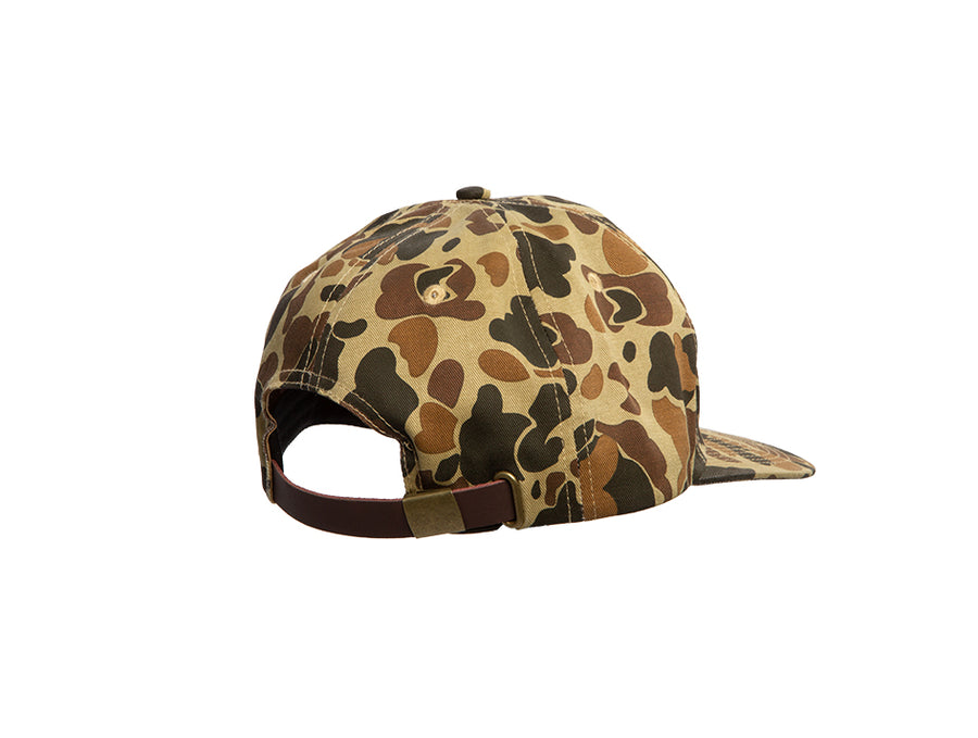 Old School Camo Pinch Front Unstructured Hat