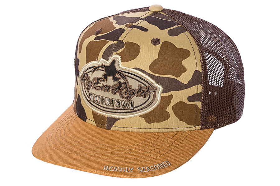 Camo Front New Bill Trucker Hat