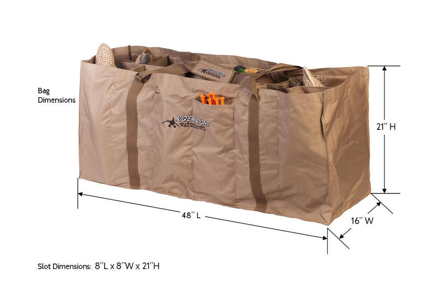12-Slot Full Body Duck Decoy Bag