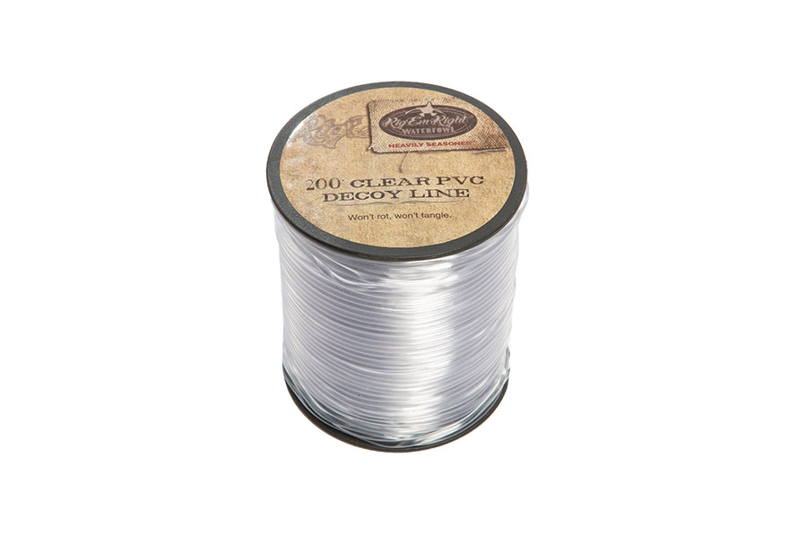 PVC Decoy Line 200' Spool- Clear