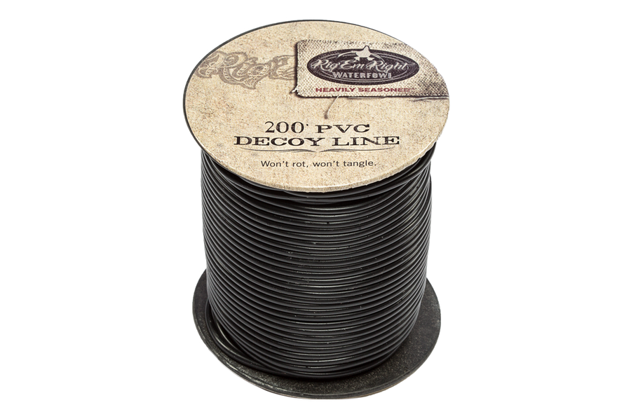 PVC Decoy Line 200' Spool- Black