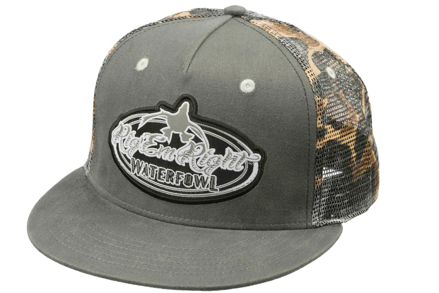 Gray and Camo Trucker Hat