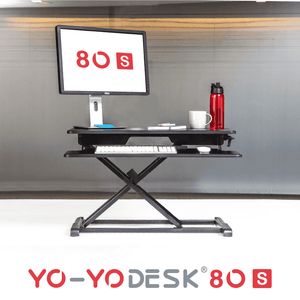 Yo-Yo DESK 80-S Black Front View