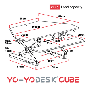 Yo-Yo DESK CUBE Side View Measurement