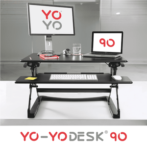 Yo-Yo DESK 90 Black Front View