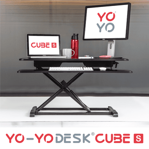 Yo-Yo DESK CUBE-S Black Front View