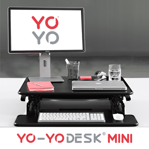 Yo-Yo DESK MINI Black Front View Folded
