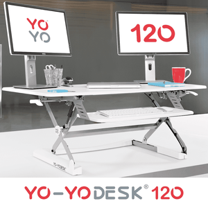 Yo-Yo DESK 120 Side View White