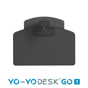 Yo-Yo DESK GO 1 Black Side View Folded