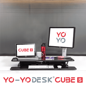 Yo-Yo DESK CUBE-S Black Front View Folded