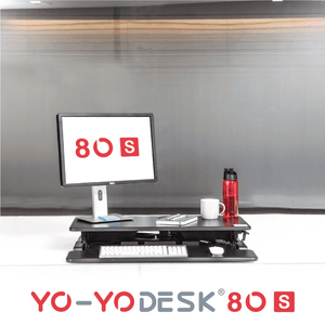 Yo-Yo DESK 80-S Front View Folded
