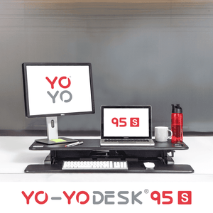 Yo-Yo DESK 95-S Black Front View Folded