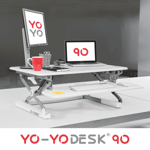Yo-Yo Desk 90 White Side View
