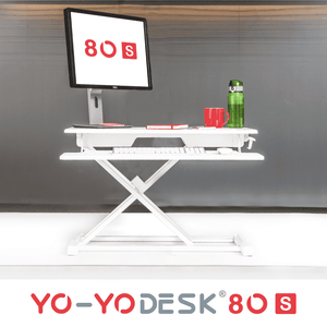 Yo-Yo DESK 80-S White Front View